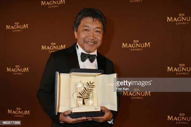 Cannes Film Festival 2018 Palme D Or awarded director Hirokazu Koreeda attends the Magnum Beach Closing Party during the 71st annual Cannes Film...
