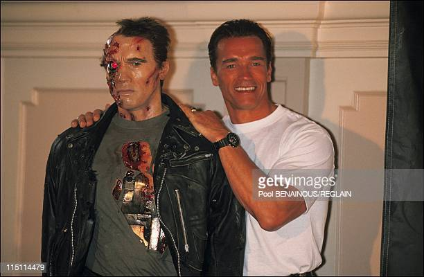 "Cannes Film Festival: Arnold Schwarzenegger presents ""Terminator II ""In Cannes, France on May 13, 1991."