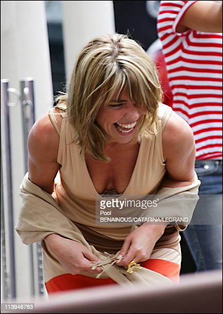 Cannes Film Festival Celebrities signing autographs in front of the Martinez hotel in Cannes France On May 20 2006Nathalie Vincent