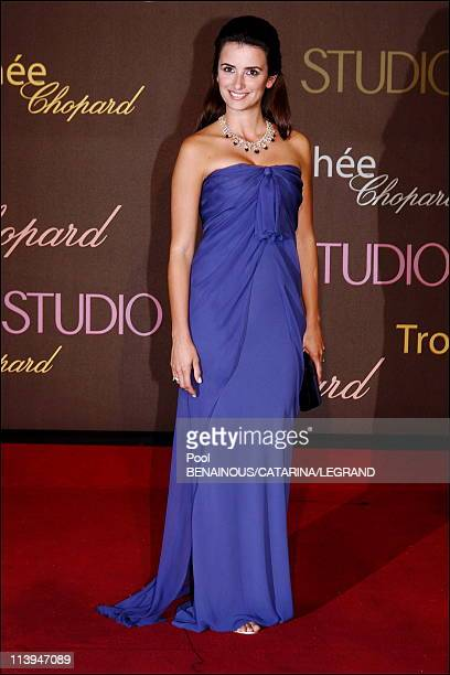 Cannes Film Festival Chopard trophy at the Carlton hotel in Cannes France On May 20 2006Penelope Cruz