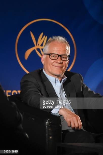 Cannes Film Festival director Thierry Fremaux attends the 73rd Cannes Film Festival Official Selection Presentation at UGC Normandie on June 03 2020...