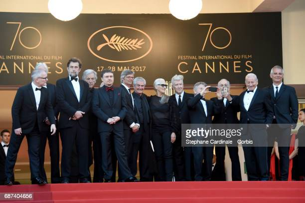 Cannes Film Festival Director Thierry Fremaux Austrian director Michael Haneke Italian director Nanni Moretti Greek director CostaGavras British...