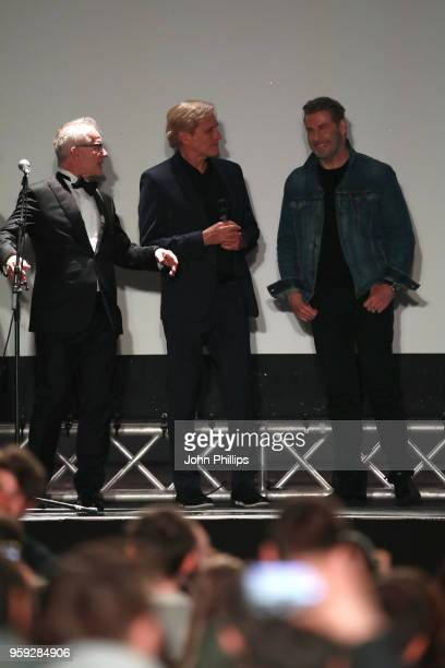 Cannes Film Festival Director Thierry Fremaux director Randall Kleiser and John Travolta attend the 'Grease' 40th Anniversary Screening during the...
