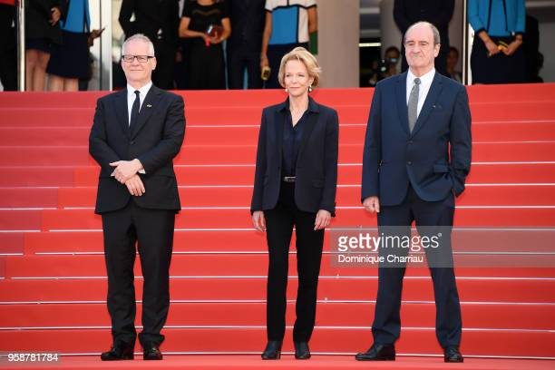 Cannes Film Festival Director Thierry Fremaux President of National Center of Cinematography Frederique Bredin and President of the Festival Pierre...