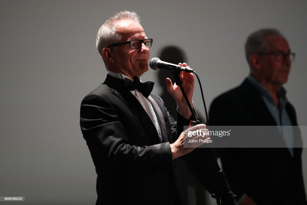 Cannes Film Festival Director Thierry Fremaux speaks onstage during the 'Grease' 40th Anniversary Screening during the 71st annual Cannes Film Festival at on May 16, 2018 in Cannes, France.