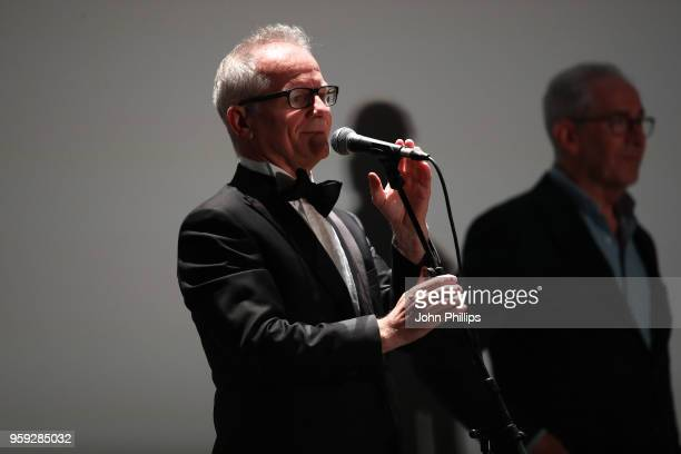 Cannes Film Festival Director Thierry Fremaux speaks onstage during the 'Grease' 40th Anniversary Screening during the 71st annual Cannes Film...
