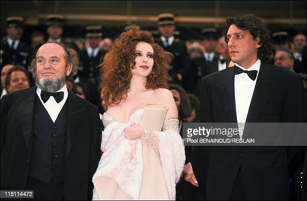 "Cannes Film Festival: evening of film ""La Carne"" by Marco Ferreri in Cannes, France on May 13, 1991 - M.Ferreri, F.Dellera, Sergio Castellitto."