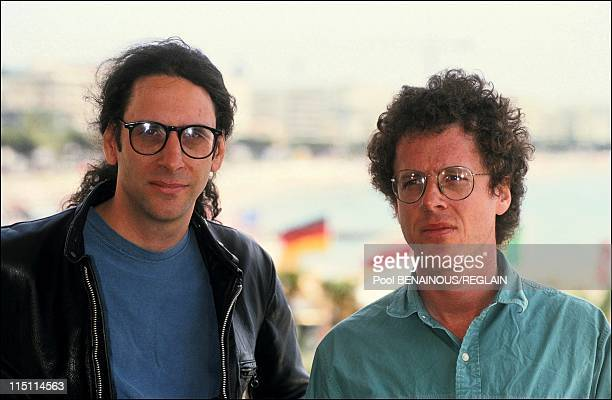 "Cannes Film Festival: film ""Barton Fink"" in Cannes, France on May 18, 1991 - Ethan and Joel Coen."