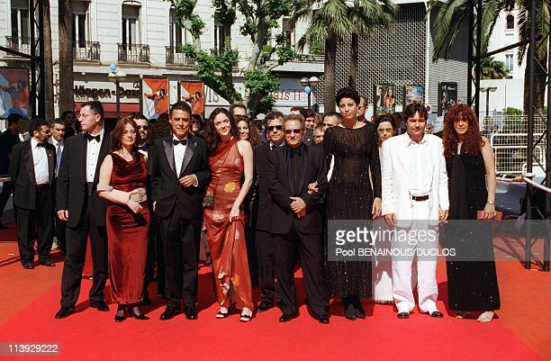 Cannes Film Festival Film Crew Estorvo' Climbs In Cannes France On May 14 2000Chico Buarque Bianca Byington Ruy Guerra and Jorge Perugorria