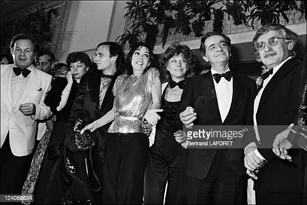 """Cannes film festival: Film """"Fantastica"""" in Cannes, France on May 09, 1980 - Soiree """"Fantastica"""" directed by Gilles Carle, Serge Reggiani, Carole..."""