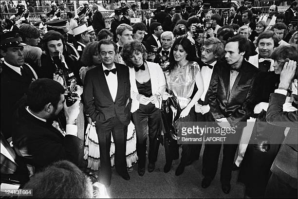 """Cannes film festival: Film """"Fantastica"""" in Cannes, France on May 09, 1980 - Team of """"Fantastica"""" directed by Gilles Carle, Serge Reggiani with Lewis..."""