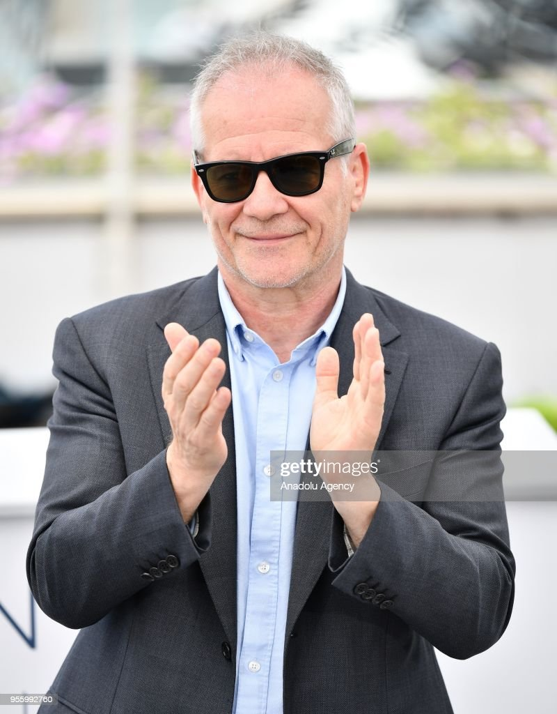 Cannes Film festival general delegate Thierry Fremaux speaks to photographers during a photocall at the 71st Cannes Film Festival in Cannes, France on May 8, 2018.