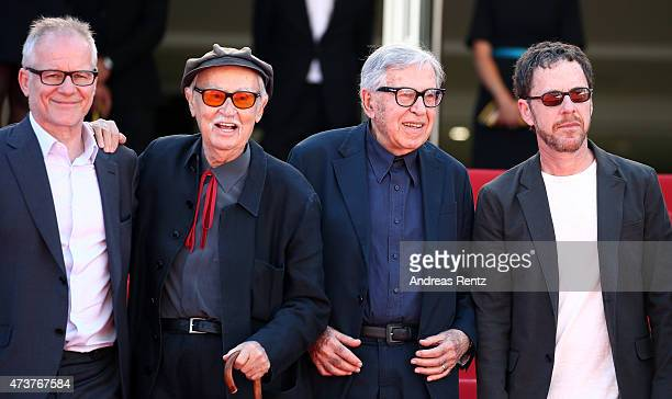 Cannes Film Festival General Delegate Thierry Fremaux Vittorio Taviani and Jury President Ethan Coen attend the Premiere of Lumiere during the 68th...