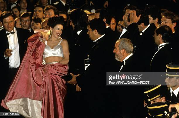 "Cannes Film Festival in Cannes, France in May, 1991 - Singer Madonna for the movie by Alek Keshishian ""in bed with Madonna""."