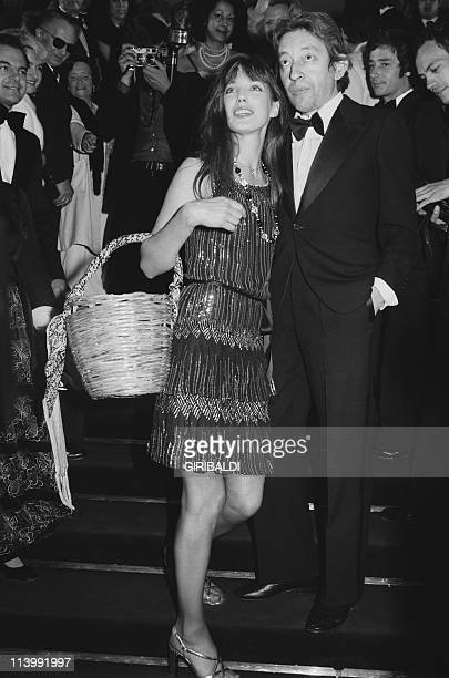 Cannes Film Festival In Cannes France On May 19 1974Jane Birkin and Serge Gainsbourg