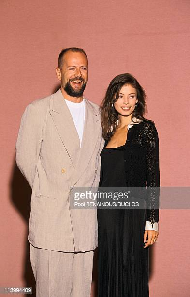 Cannes Film Festival in Cannes, France on May 19, 1994-Bruce Willis and Jane March.