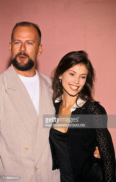 Cannes Film Festival in Cannes France on May 19 1994Bruce Willis and Jane March