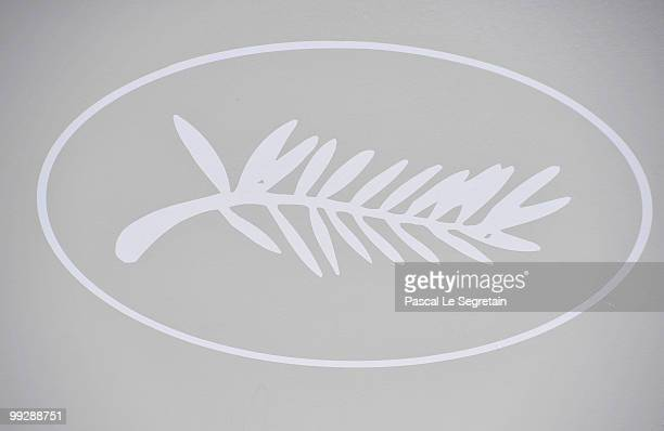 Cannes Film Festival logo during the 63rd Annual Cannes Film Festival on May 14 2010 in Cannes France