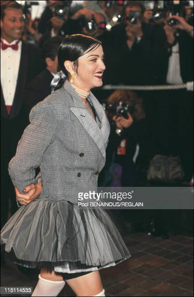 "Cannes Film Festival: Madonna at evening for ""Jungle Fever"" with Madonna in Cannes, France on May 16, 1991."