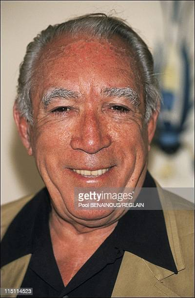 "Cannes Film Festival: photo call and stairs of ""Jungle Fever"" in Cannes, France on May 16, 1991 - Anthony Quinn."