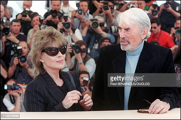 Cannes Film Festival Photo Call 'Conversation With Gregory Peck' In Cannes France On May 16 2000Gregory Peck and his wife Veronique