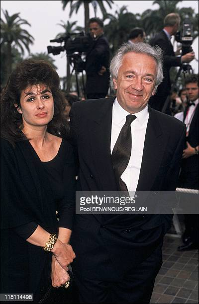 Cannes Film Festival photo call of 'Bix'In Cannes France on May 15 1991 Jean Pierre Cassel and his wife