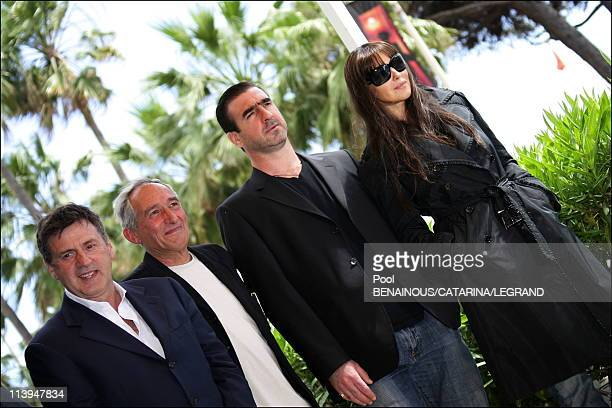 Cannes Film Festival Photo call of Le Deuxieme souffle in Cannes France on May 21 2006Daniel Auteuil Alain Corneau Eric Cantona Monica Bellucci