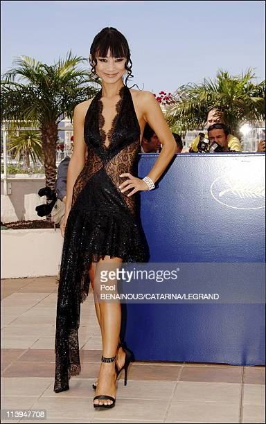"""Cannes Film Festival: Photo call of """"Southland Tales"""" in Cannes, France on May 21, 2006-Bai Ling."""