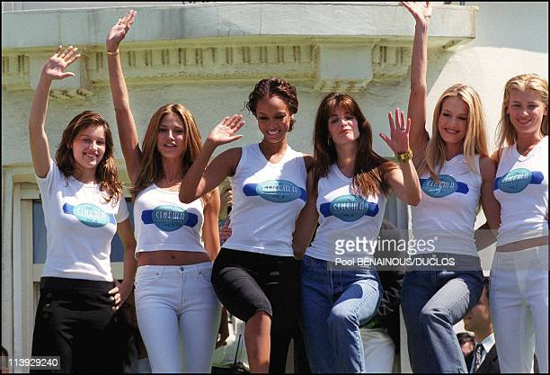 Cannes Film Festival Photocall Victoria'S Secret In Cannes France On May 17 2000Laetitia Casta Daniela Pestova Tyra Banks Stephanie Seymour Karen...