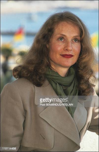 "Cannes Film Festival: presentation of the film ""Malina"" by W.Schroeter in Cannes, France on May 11, 1991 - Isabelle Huppert."