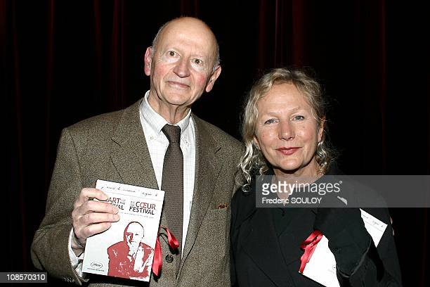 Cannes Film Festival president Gilles Jacob and fashion designer Agnes B in Paris France on February 24 2005