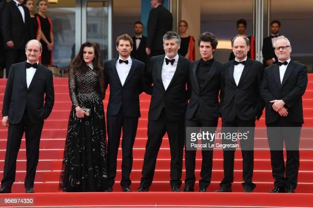 Cannes Film Festival President Pierre Lescure actress Adele Wismes actor Pierre Deladonchamps director Christophe Honore actor Vincent Lacoste actor...