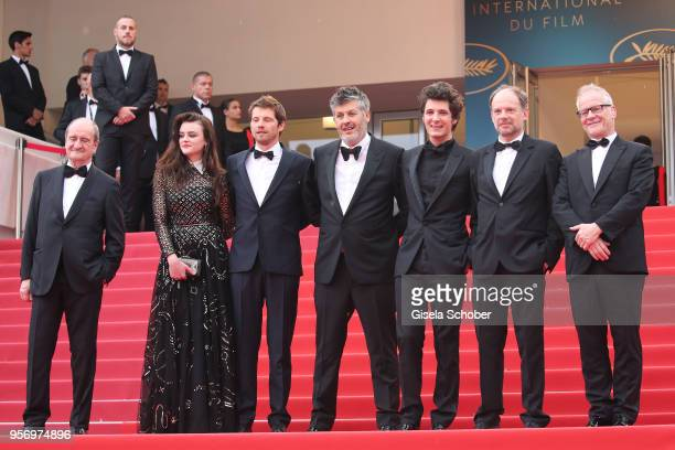Cannes Film Festival President Pierre Lescure actress Adele Wismes actor Pierre Deladonchamps director Christophe Honore actor Vincent Lacoste actor...
