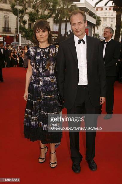 Cannes film festival Stairs of 'Volver' in Cannes France On May 19 2006Hyppolite Girardot and his wife