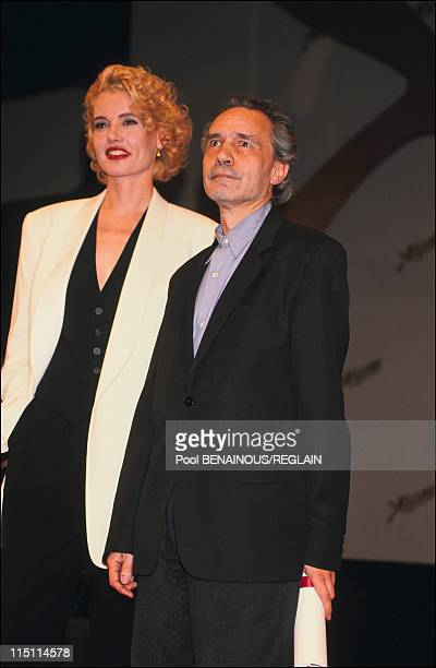 Cannes Film Festival: The winner in Cannes, France on May 20, 1991 - Geena Davis and Jacques Rivette.