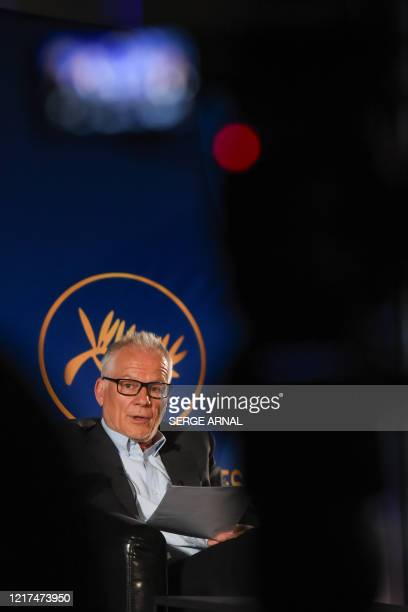 Cannes Film Festival's director Thierry Fremaux reveals the 73rd Cannes Film Festival Official Selection in Paris on June 3 2020