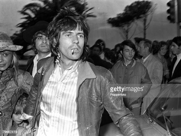 Cannes France 20th May 1971 Guitarist with British pop group 'The Rolling Stones' Keith Richards is pictured in the South of France