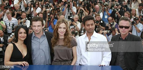 British actress Archie Panjabi US actor Dan Futterman US actress Angelina Jolie Indian actor Irrfan Khan and British director Michael Winterbottom...