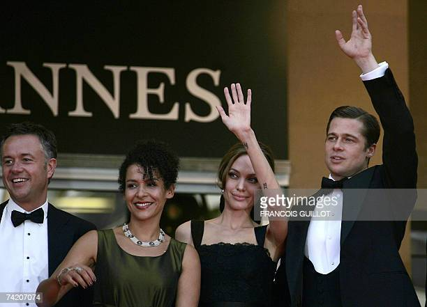 British director Michael Winterbottom, French journalist and writer Mariane Pearl and her son Adam, US actress Angelina Jolie, actor and producer...