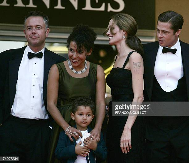 British director Michael Winterbottom, French journalist and writer Mariane Pearl and her son Adam, US actress Angelina Jolie and actor and producer...