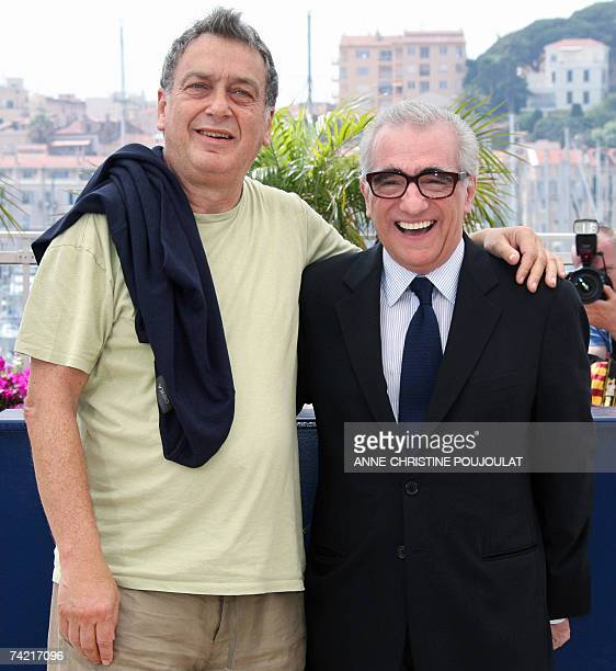 British director Stephen Frears and his US counterpart Martin Scorsese poses 22 May 2007 during a photocall for the World Cine Fondation at the...
