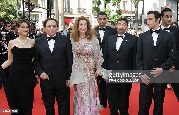 Egyptian director Marwan Hamed arrives with the cast of his film 'Yacoubian Building' Hind Sabry Adel Imam Mohamed Imam and guest at the Festival...