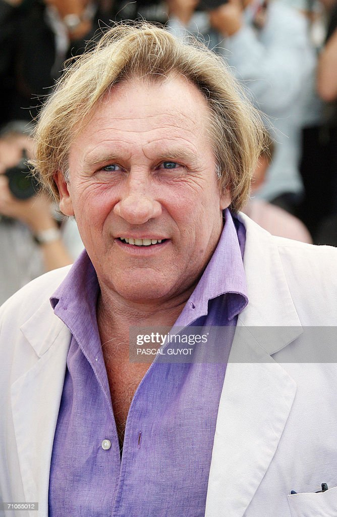 French actor Gerard Depardieu poses duri : News Photo