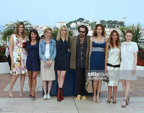 French actress Marina Hands Emma de Caunes Anne Consigny and Emmanuelle Seigner US director Julian Schnabel US actress Olatz Lopez Garmendia French...