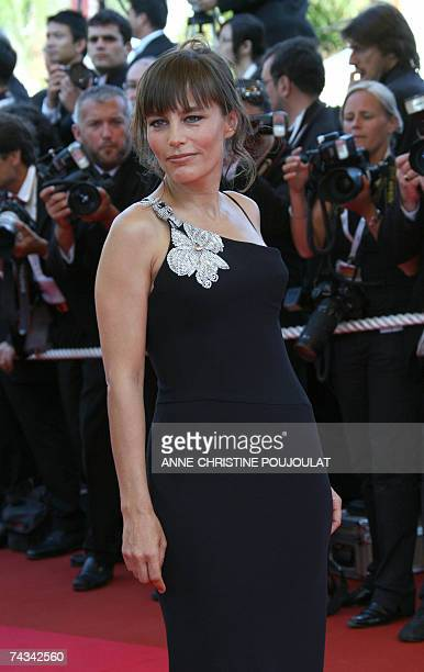 French actress Sophie Duez poses 27 May 2007 upon arriving at the Festival Palace in Cannes, southern France, to attend the Closing ceremony of the...