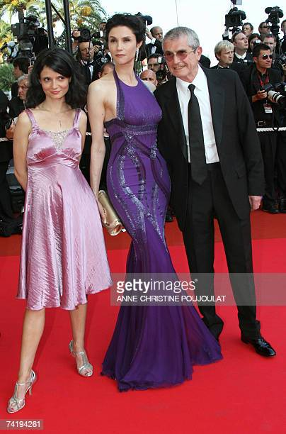 French director Claude Lelouch arrives 19 May 2007 with his wife actress Alessandra Martines and daughter actress Salome Lelouch at the Festival...