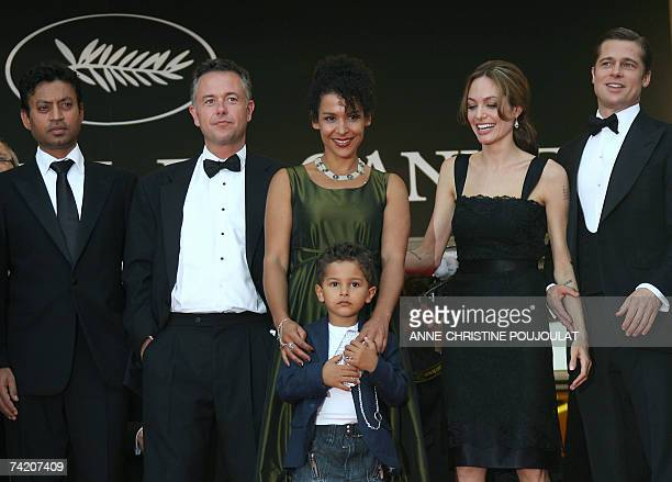 Indian actor Irrfan Khan, British director Michael Winterbottom, French journalist and writer Mariane Pearl and her son Adam, US actress Angelina...