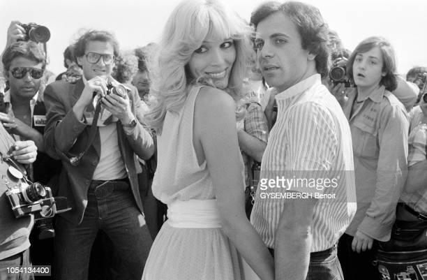 Cannes, France, mai 1979 --- Le 32ème Festival de Cannes se déroule du 10 au 24 mai. La chanteuse française Amanda LEAR et son mari, l'homme...