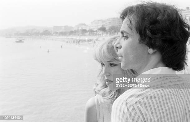 Cannes, France, mai 1979 --- Le 32ème Festival de Cannes se déroule du 10 au 24 mai. La chanteuse Amanda LEAR et son mari, l'homme d'affaires et...