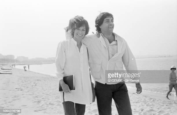 Cannes France mai 1982 La 35ème édition du Festival de Cannes s'est déroulée du 14 au 26 mai 1982 Geraldine CHAPLIN actrice américaine jurée pour les...
